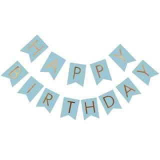 Blue/Green/Pink Happy Birthday banner