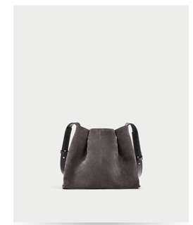 Zara mini suede bag