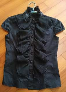 🚚 黑色蕾絲上衣