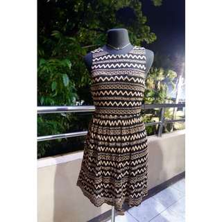 F21 Black with light brown laced dress
