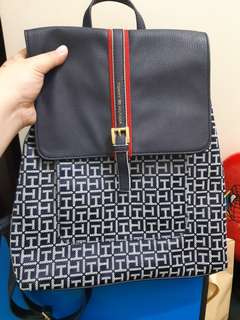 Tommy Hilfiger Navy Jacquard Backpack