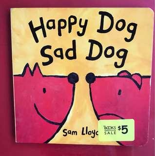 Happy dog sad dog board book