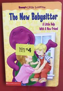 Barney / the new babysitter board book