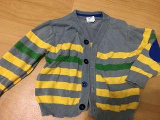 🚚 👶🏻超帥氣橫條混色針織外套 男童 女童 童裝