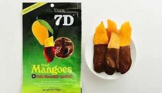 7D Dried Mangoes Dark Chocolate Enrobed 80g
