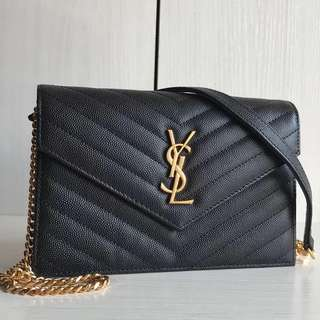 Saint Laurent Classic Chevron Envelope WOC 19 (Just look at the price without looking at quality.Please bypass,Tq)