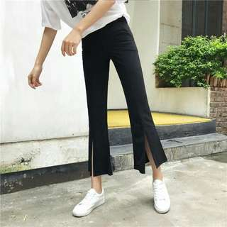 Slit bottom pants