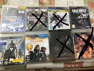 Ps3 Games Winning Eleven 2014 2010 FIFA 14 Call of duty Ghost destiny killzone trilogy unchartered 3 ultimate vs capcom 3