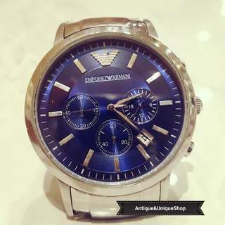 Emporio Armani watch chrono super ganteng