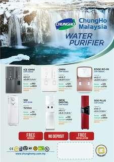 CHUNGHO WATER PURIFIERS!!
