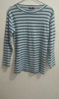 STRIPE BLUE SWEATER POLO ORI