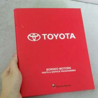 2 Ring Toyota A5 Binder