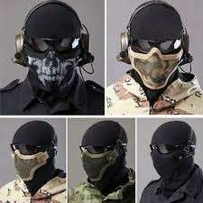 Half Faced Tactical Metal Mesh Mask