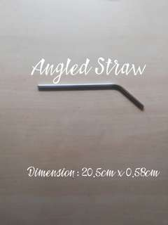 304 Stainless Steel Angled Straw