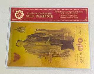 Gold Banknote Thailand 70 Anniversary for Collection Decoration souvenir Gifts