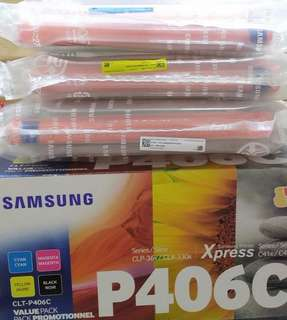 Samsung printer toners P406 from value pack  Black Noir,Yellow and Cyan (3colour)