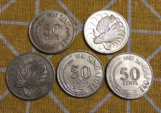 Singapore 50¢ Coin