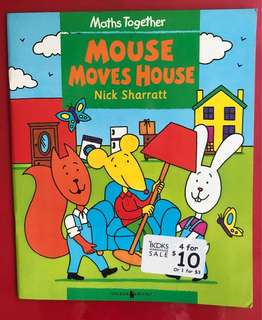 Mouse moves house children's book