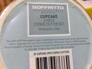 Soffritto Cupcake 3 piece cookie cutter set