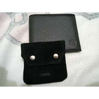 Hickok Genuine Leather Wallet Black With Hickok Coin Purse
