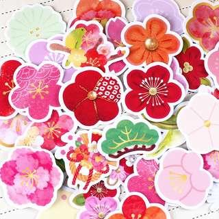 🚚 Floral Scrapbook / Planner Stickers #163