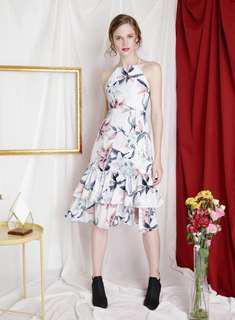 Jubilant Tiered Hem Floral Dress