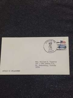 US 1972 Apollo 16 Splashdown Apollo PA Space Cover stamp
