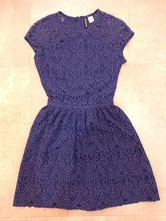 H&M Blue Lace Short Dress