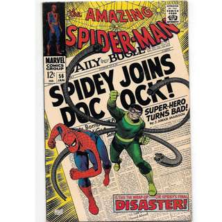 🚚 Amazing Spider-man Vol. 1 #56 - 1st appearance Gwen Stacy's father