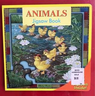 Animal jigsaw book
