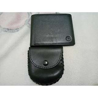 McJim Smooth Leather Wallet Flap ID With Leather Coin Purse