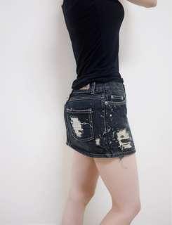 🚚 現貨 個性破損設計牛仔短裙