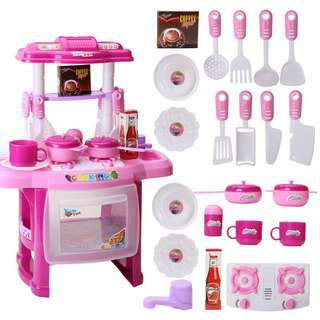 Ready Stock Kid Pretend Play Cooking Food Kitchen Set Baby Girls Toy Gifts