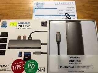 MOMAX OneLink 6-in-1 Type-C Hub
