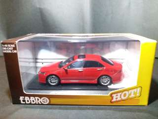 1:43 Accord cl7 euro r red