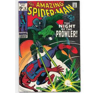 🚚 Amazing Spider-man Vol. 1 #78 - 1st appearance of the Prowler