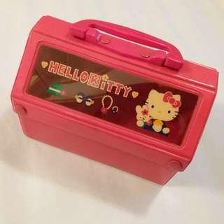 Hello Kitty PVC 膠 屋型手挽盒