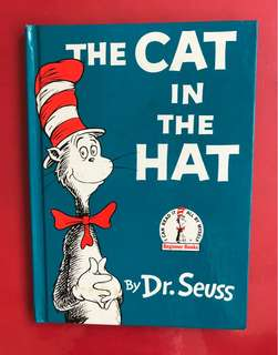 Dr Seuss the cat in the hat hard cover book