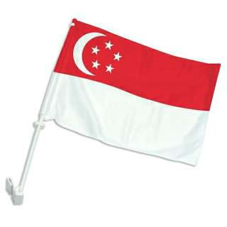 Singapore flag for car and car mirror covers