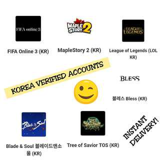 Korean Verified Game Accounts [ INSTANT DELIVERY! ]