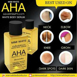 💯% authentic mimi white aha serum