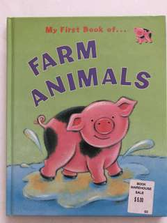 My first book of farm animals hard cover