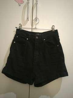 Noughts and crosses black denim shorts
