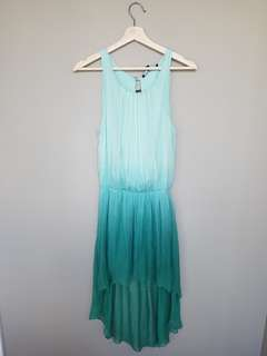 Teal Ombre High Low Dress