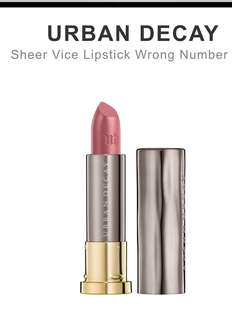 Urban Decay Vice Lipstick (Wrong Number, Sheer)