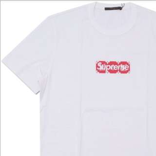SUPREME x LOUIS VUITTON Monogram Box Logo Tee WHITE (M)
