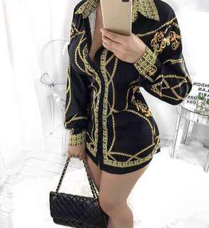 Versace Inspired Top