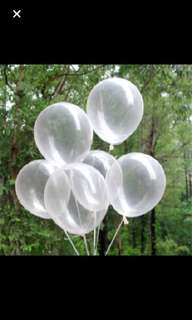 Transparent latex balloon
