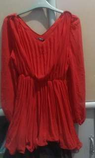 korean RED party dress!REPRICED,,