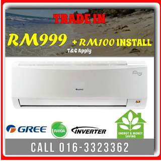 BRAND NEW GREE INVERTER 1.0HP RM999 LIMITED TIME OFFERS